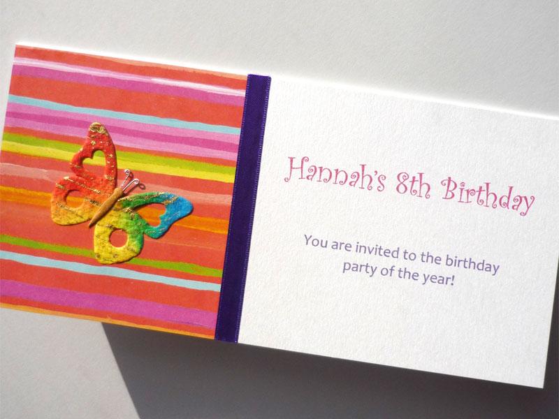 hannah party invitation